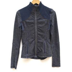 Lululemon Blue Inkwell Slub Denim Forme Jacket